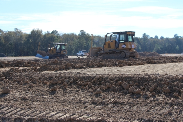 Construction on New Caney ISD's Keefer Crossing Middle School replacement began in October. (Courtesy New Caney ISD)