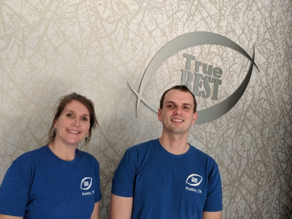 Due to steady demand at True REST Float Spa's Northwest Austin location, Taryn Ostendorf (left) and Tanner Heim (right) are set to open a new float center in Cedar Park early next year. Photos by Iain Oldman/Community Impact Newspaper
