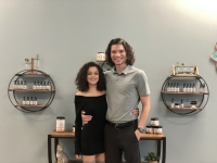 Owner Gunnar Cook and back office manager Christina Baez joined the Woodforest Your CBD Store on Nov. 9. (Courtesy Gunner Cook/Your CBD Store)