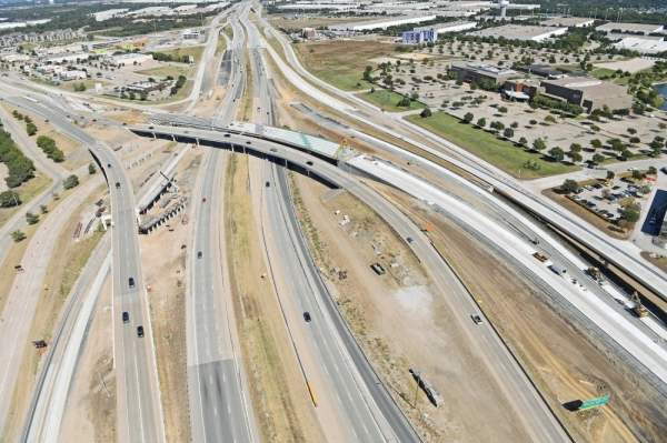 NorthGate Constructors will conduct a major traffic switch Jan. 3-6 for the I-635/SH 121 interchange project. (Karen Campbell/Squire Haskins Inc.)