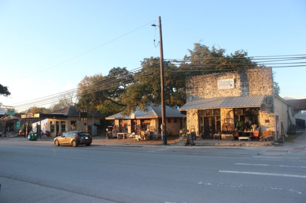 Mercer Street in downtown Dripping Springs features local businesses and shops. (Olivia Aldridge/Community Impact Newspaper)