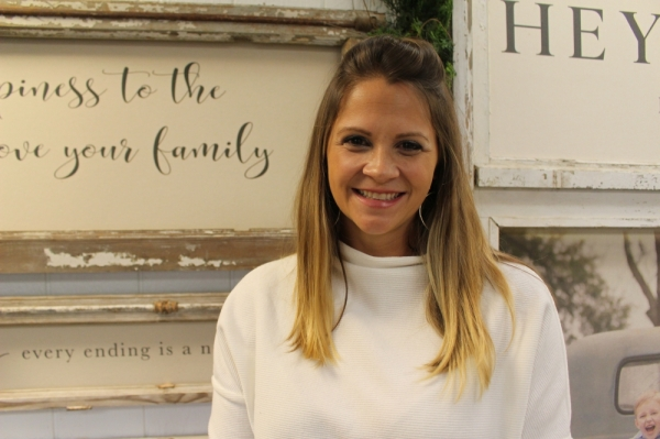 Co-owner Emily Lyszaz spent 12 years in graphic design before opening The Neutral Nest with her husband, Bryan. The business opened in August 2018 on Commerce Street in Tomball. (Kara McIntyre/Community Impact Newspaper)