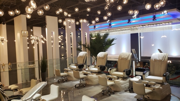The spa offers a variety of services for women, men and children, including pedicures, manicures, waxing, threading, eyelash extensions and facials, and features a full bar. (Courtesy Executive Nails & Spa)