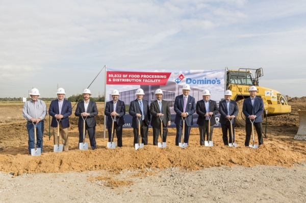Domino's Pizza Katy supply chain center groundbreaking
