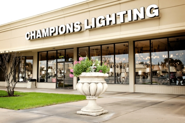 Champions Lighting will relocate from its location on FM 1960 to the Color Interiors Flooring building, located on FM 2978 in Magnolia, on Jan. 15. (Courtesy Champions Lighting)