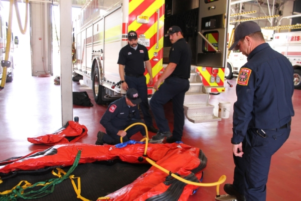 Local first responders will practice scenarios with high-angle training, ventilation, and search and rescue. (Lindsey Juarez Monsivais/Community Impact Newspaper)