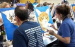 Painting with a Twist is holding a special Paint Your Pet class to benefit the no-kill animal shelter Operation Kindness. (Courtesy Painting with a Twist)