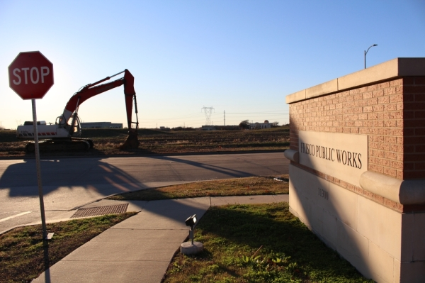 The Frisco Public Works Department's current location is on Research Road. (Elizabeth Uclés/Community Impact Newspaper)