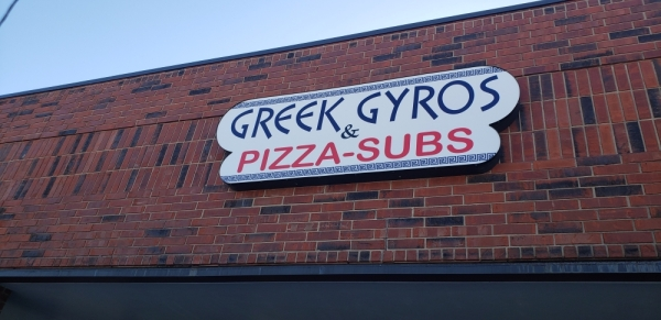 Greek Gyros & Pizza-Subs is located at 1211 Leander Road, Georgetown. (Ali Linan/Community Impact Newspaper)