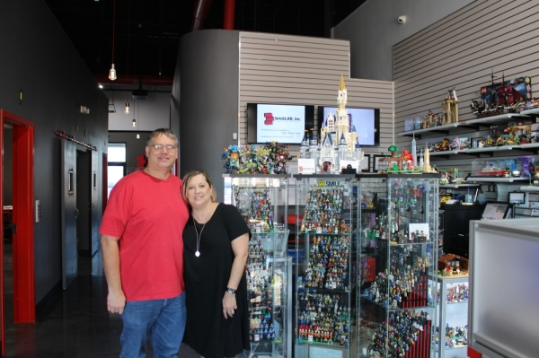 Owners Michael and Jenni Jensen opened brickLAB, Inc. in November 2018. (William C. Wadsack/Community Impact Newspaper)