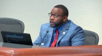"""A code of ethics complaint was filed against McKinney City Council member La'Shadion Shemwell after he attempted to issue a """"Black State of Emergency"""" during a council meeting. (courtesy city of McKinney)"""