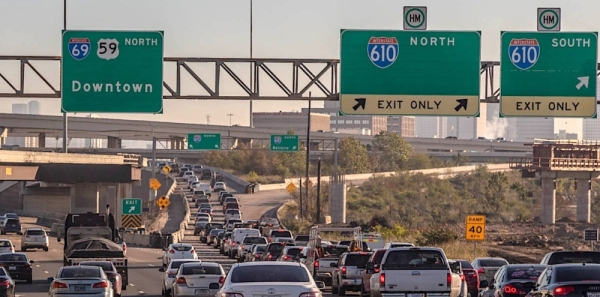 Closures are making way for construction at the I-610 Loop interchange. (Courtesy TxDOT)