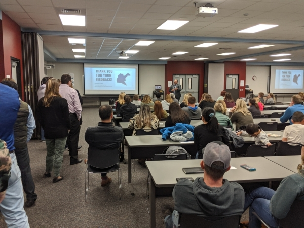 The Tomball ISD District Zone Committee held an open public forum in November to hear from the community about recommended changes to elementary school boundaries in southern TISD. (Anna Lotz/Community Impact Newspaper)