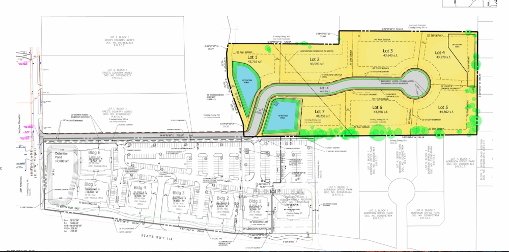 The Canopy would be located at 395 Shady Lane, Southlake, and offer space for seven new homes. (Courtesy City of Southlake)