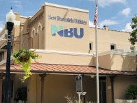 NBU's main office has been located on the Main Plaza since 1942. (Courtesy Ian Pribanic/Community Impact Newspaper)