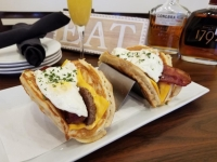 The menu will feature modern American food, including pancakes, waffles, French toast, burgers, sandwiches, coffee and espresso drinks, bloody marys, mimosas and more. (Courtesy Mary's)