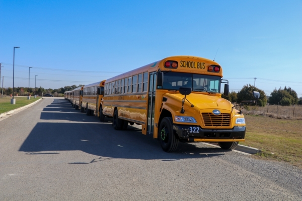 Georgetown ISD will replace nearly a quarter of its fleet with clean-energy propane buses by the end of January. (Courtesy Georgetown ISD)