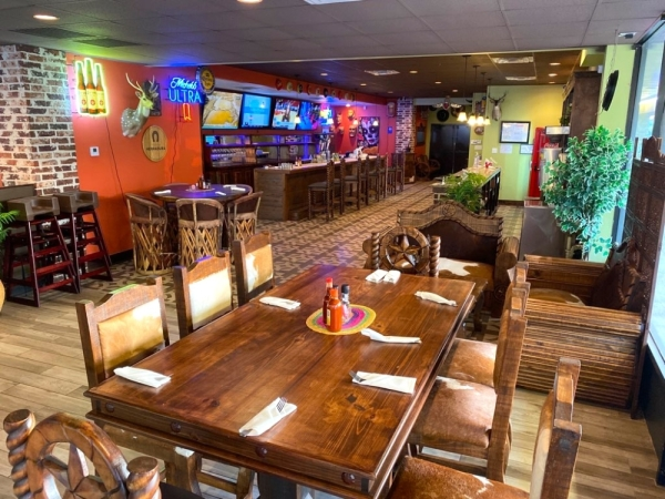 The new Tex-Mex restaurant features a dining area for breakfast, lunch and dinner in addition to a bar area. (Courtesy Alamo Tex-Mex Grill)