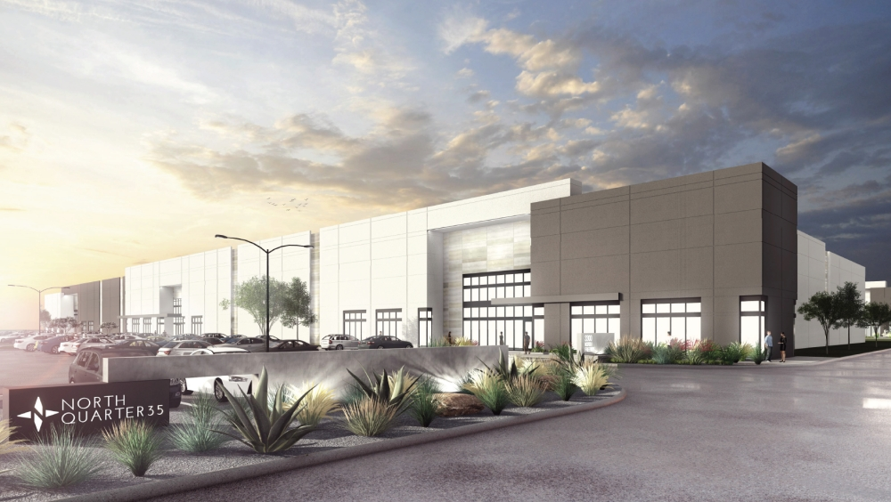 North Quarter 35, a 64,000-square-foot industrial development, is under construction in Northeast Fort Worth at I-35 and Golden Triangle Boulevard. (Courtesy M2G Ventures)