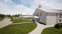 Boxwood Manor will feature an event hall and a ceremony hall on the nearly 10-acre property. (Rendering courtesy Paradigm Construction)