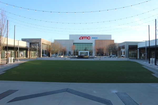 Parts of Metropark Square have opened through the year, including an AMC Theatre. Andrew Christman/Community Impact Newspaper