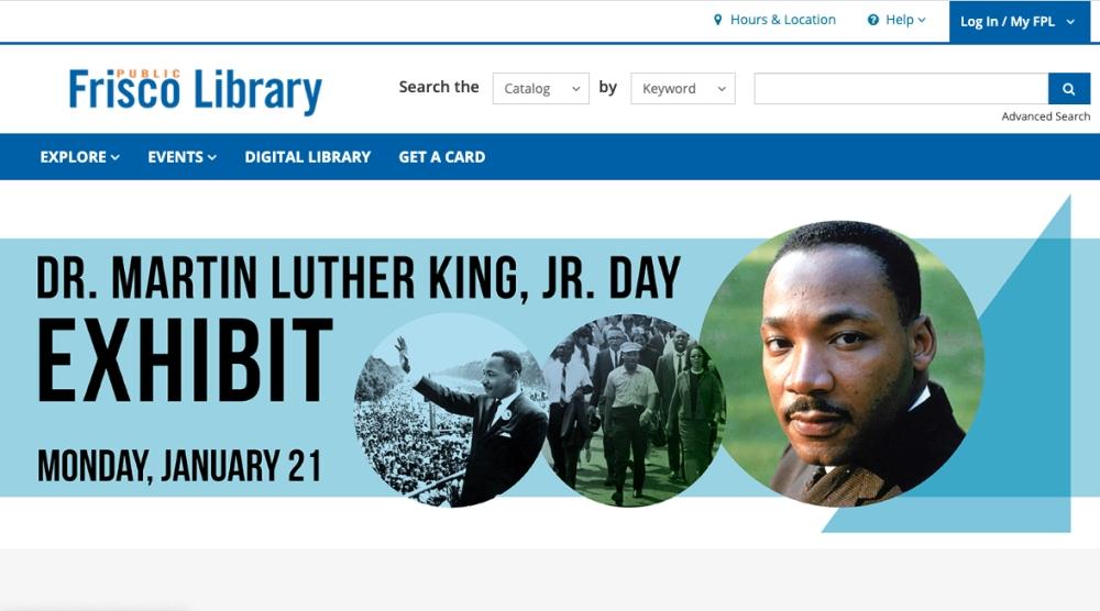 frisco public library website redesign
