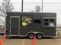 The Coffee Box is near the Gemstone Palace in Kyle. (Evelin Garcia/Community Impact Newspaper)
