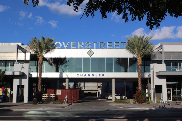Downtown Chandler's Overstreet development. (Alexa D'Angelo/Community Impact Newspaper)