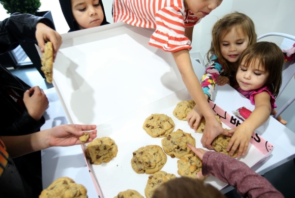 All customers will receive a free chocolate chip cookie during the grand opening on Friday. (Courtesy Crumbl Cookies)