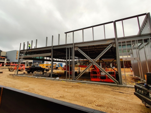 The freestanding restaurant is under construction at The Woodlands Mall. Ben Thompson/Community Impact Newspaper