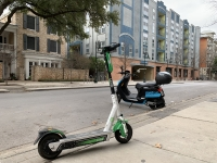 The city of Rollingwood has banned commercial scooters within city limits. (Emma Freer/Community Impact Newspaper)
