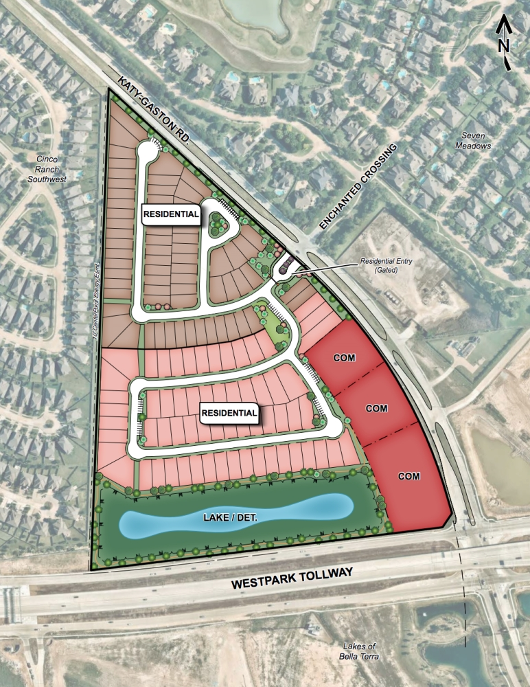 Five acres of retail will be located adjacent to Haven at Seven Lakes. (Courtesy Trendmaker Homes)