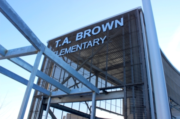 The modernized T.A. Brown Elementary School campus opened on Jan. 8. Jack Flagler/Community Impact Newspaper