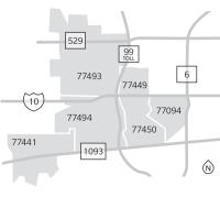 The Katy-area Zip codes.