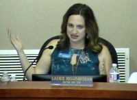 Lakeway City Council Member Laurie Higginbotham led officials in a discussion of the dangers of vaping and its prevalence among Lake Travis-area youth. (Screenshot from Jan. 13 special City Council meeting)