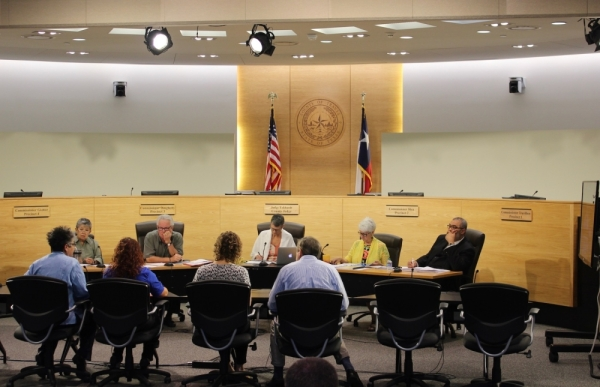 Travis County commissioners participated in budget hearings during the fiscal year 2018-19 budget process. (Taylor Jackson Buchanan/Community Impact Newspaper)