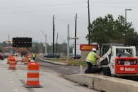 Construction to widen Spring Cypress Road from Hwy. 249 to Hufsmith-Kohrville Road is scheduled to be complete in February. (Kara McIntyre/Community Impact Newspaper)