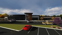 Woodforest National Bank is coming to the Woodforest development. (Rendering courtesy Total PR)