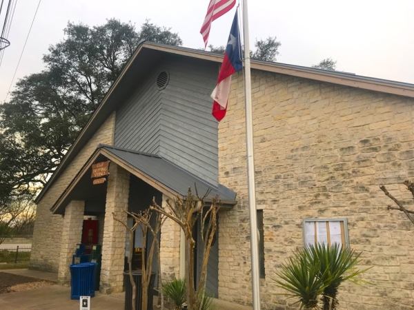 A photo of the exterior of Dripping Springs City Hall.