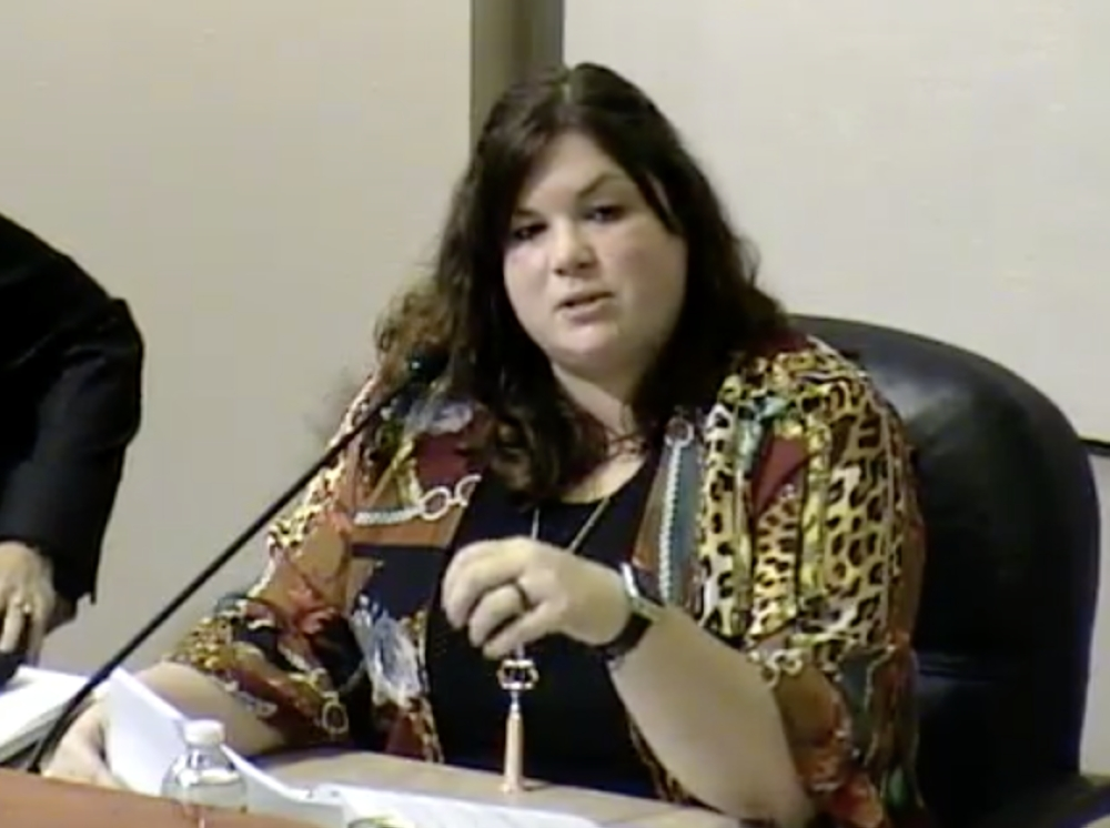 Charlotte Hodges, the city's director of building and development services, addressed City Council during the Jan. 21 regular meeting. (Courtesy city of Lakeway)