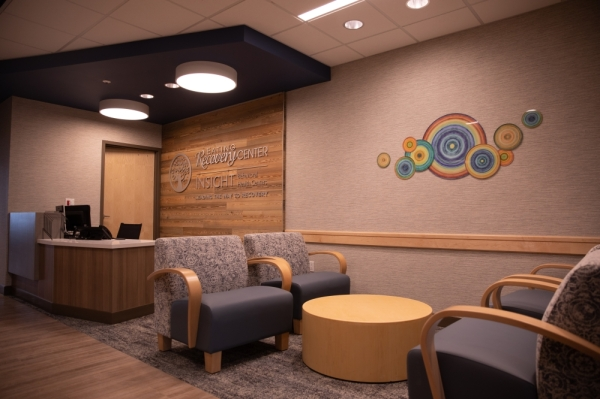 The recovery center has three levels of care. A mixture of community rooms, classrooms, beds and offices can be found inside (Liesbeth Powers/Community Impact Newspaper)