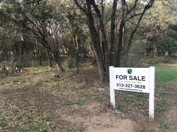 West Lake Hills sold the undeveloped property in 2018 for approximately $1.575 million. (Nicholas Cicale/Community Impact Newspaper)