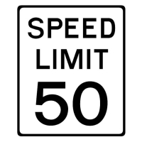 speed limit 50 mph shutterstock stock image