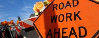 fotolia stock image road work ahead sign