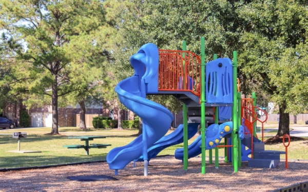 The neighborhood features two play areas. (Adriana Rezal/Community Impact Newspaper)