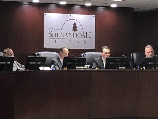 Shenandoah City Council was presented with transportation updates around the city. (Andrew Christman/Community Impact Newspaper)