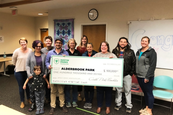 The Austin Parks Foundation on Jan. 23 announced it awarded its annual ACL Music Festival Grant, worth $100,000, to Alderbrook Park. (Courtesy Austin Parks Foundation)
