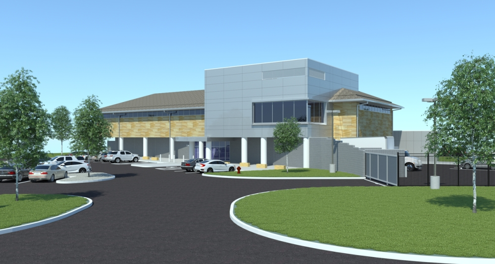 The new Plano Police Substation is expected to open in late April or early May at McDermott Road and Robinson Road. (Courtesy city of Plano)