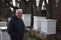 Joel White became interested in bees in 1975 after a college coach introduced him to beekeeping. (Alex Hosey/Community Impact Newspaper)