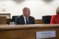 Rick Beverlin attended his first Leander  City Council meeting Dec. 5. (Courtesy city of Leander)